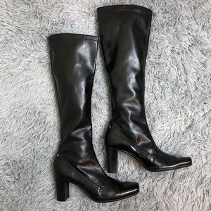 Franco Sarto Black Heeled Boot